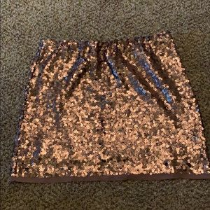 Dark Rose Gold Sequin Skirt
